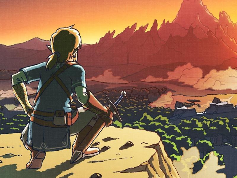 Breath of the Wild Zelda art style