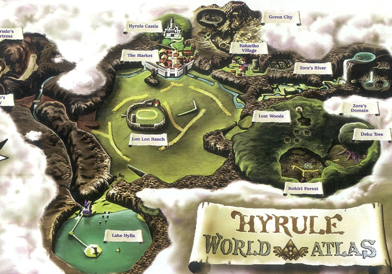 Venturing around Hyrule! The Ocarina of Time map