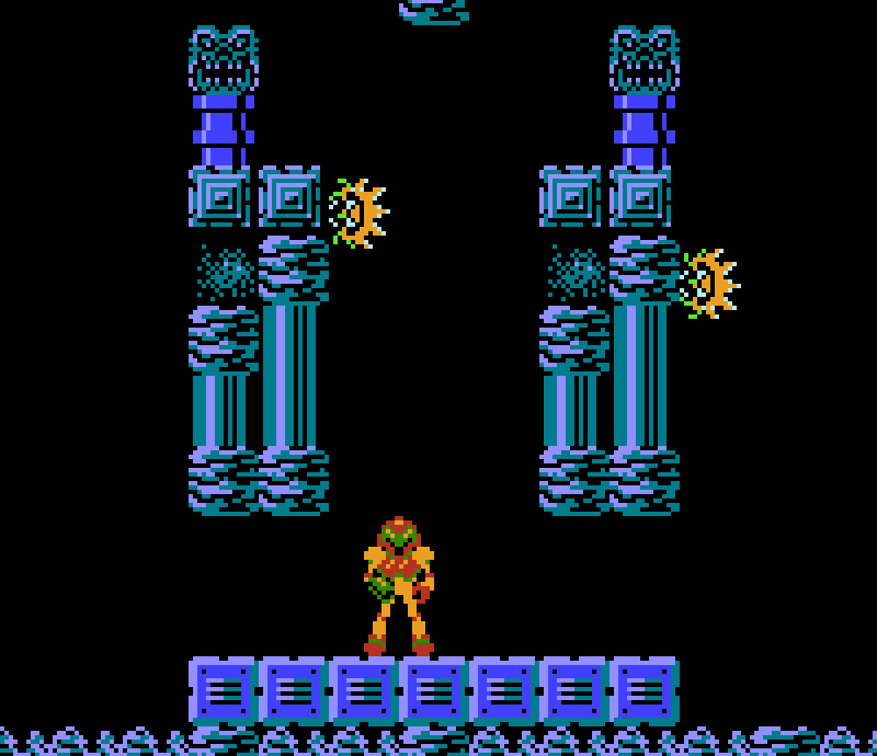 The opening scene from Metroid on the NES! Looking back at the history of Metroid