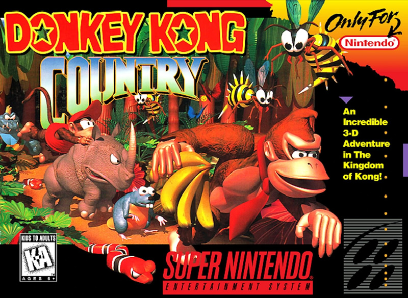 Boxart of Donkey Kong Country - one of our favourite SNES games