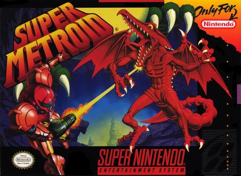 Super Metroid boxart - one of the best SNES games for Switch
