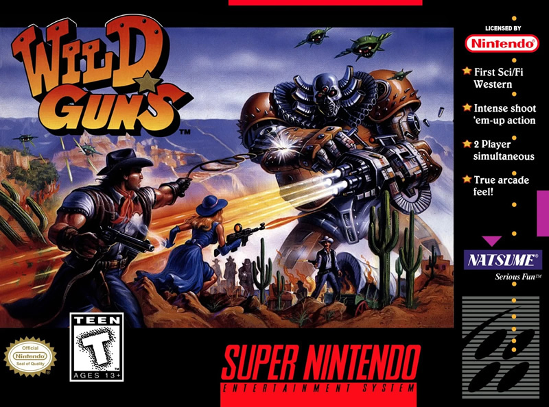 Wild Guns boxart - one of the best SNES games for switch